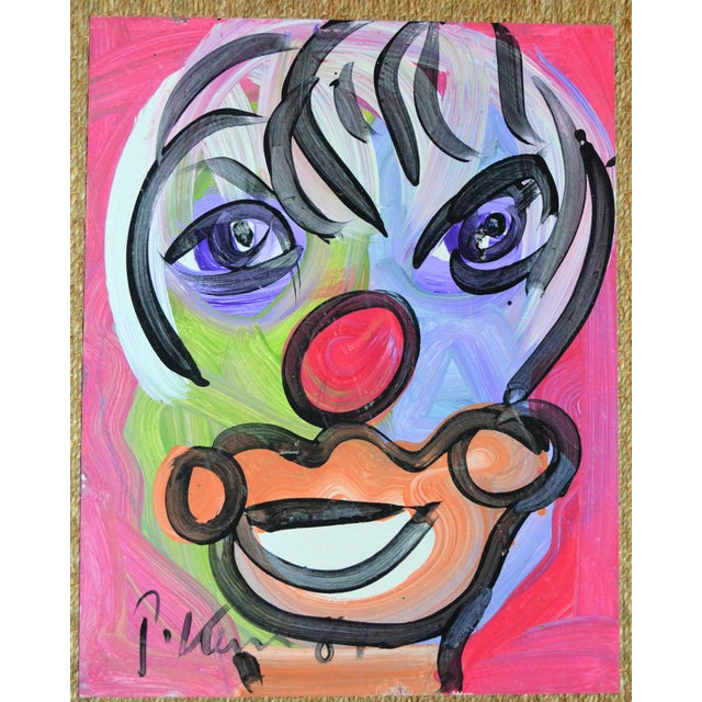 Peter Keil Peter Keil Neo Expressionist Abstract Portrait For Sale - Image 4 of 4
