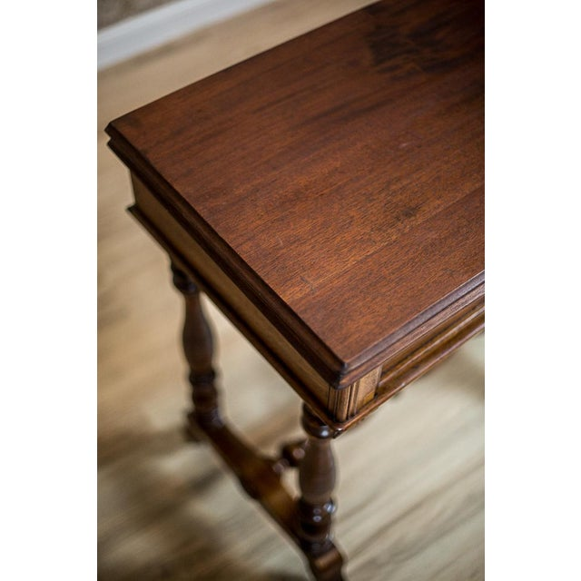 Traditional 19th Century Walnut Sewing Table or Card Table For Sale - Image 3 of 13