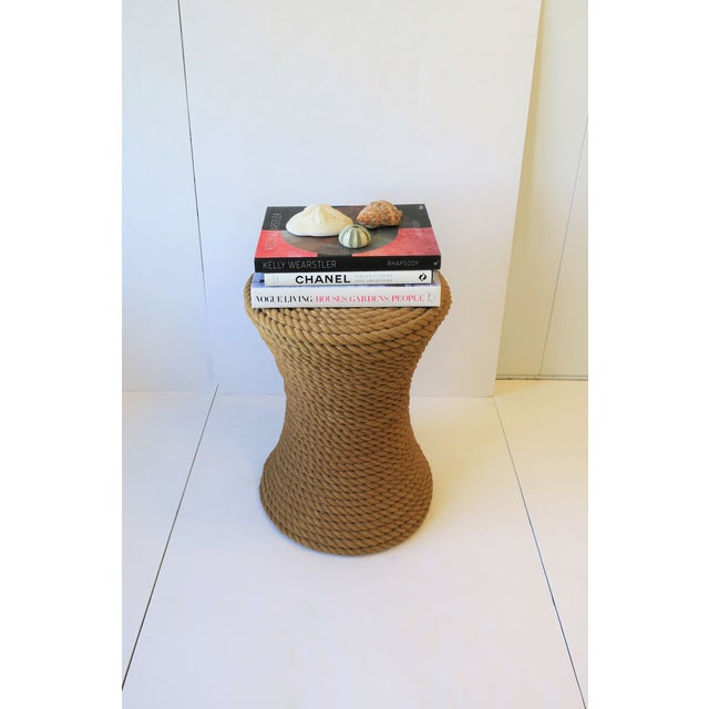 Textile Nautical Rope Round Side or End Table For Sale - Image 7 of 10