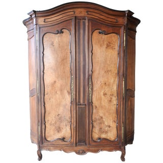 19th Century French Walnut Cabinere For Sale