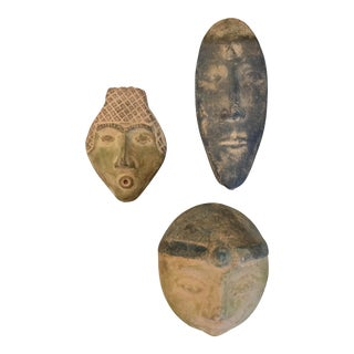 Vintage Decorative Heads- Set of 3 For Sale