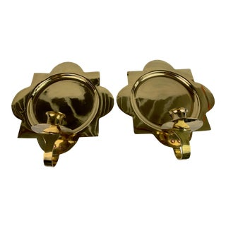 1950s Brass Wall Sconces - a Pair For Sale