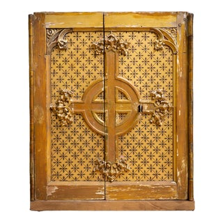 19th Century Wood and Metal Tabernacle Safe For Sale