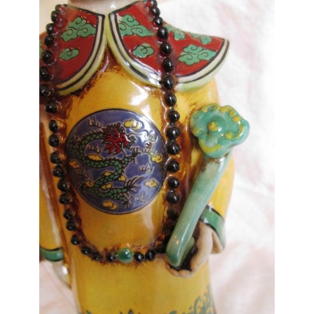 Chinese Ceramic Priest Figurine - Image 10 of 10
