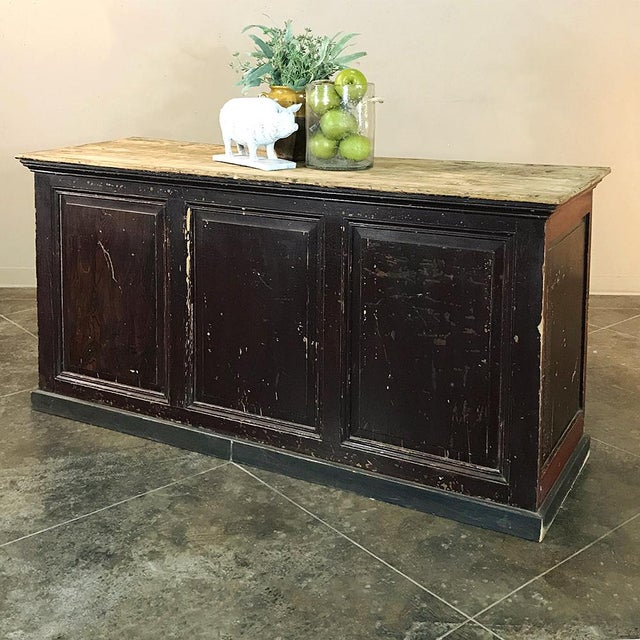 19th Century Rustic County French Store Counter For Sale - Image 10 of 11