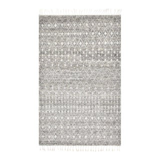 Ace, Bohemian Moroccan Hand-Knotted Area Rug, Gray, 8 X 10 For Sale
