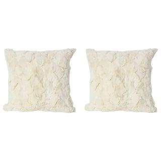Custom White Rex Pillows - A Pair For Sale