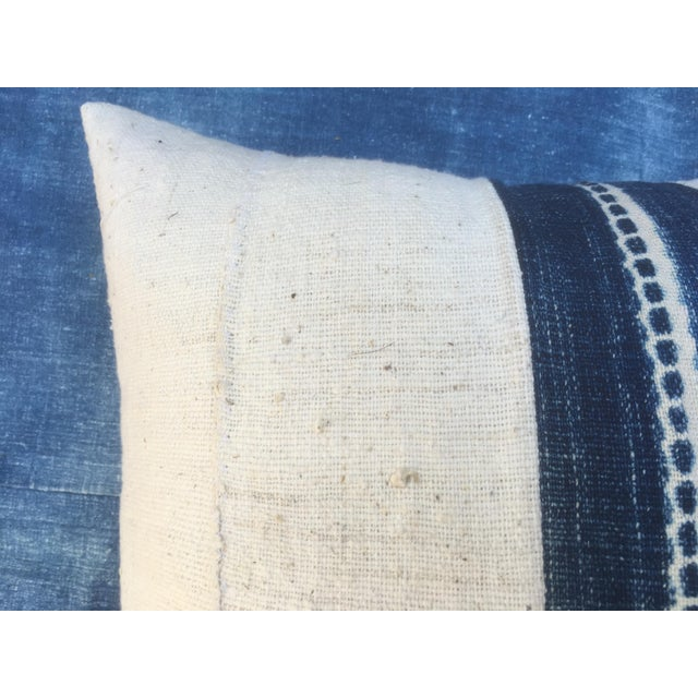 African Mud Cloth Pillow With Indigo - Image 6 of 6