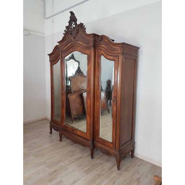 19th Century Italian Louis XV Rococò Style Wood Carved Bedroom Set For Sale - Image 13 of 13