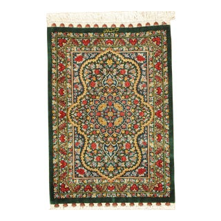 "Pasargad Qum Collection Silk Rug- 2' X 3' 2"" For Sale"