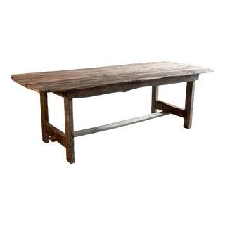 Custom French Farmhouse Table of Reclaimed Barn Wood. For Sale