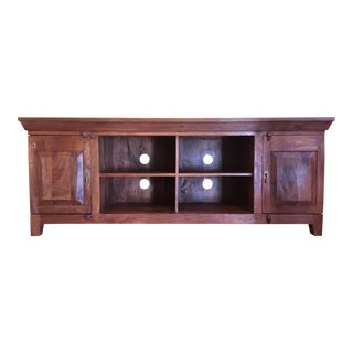 Primitive Oak Sideboard Buffet