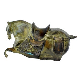 Antique Han Dynasty Bronze Horse For Sale