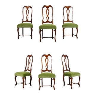 Set of Six Restored Traditional English Regency Style Dining Chairs For Sale