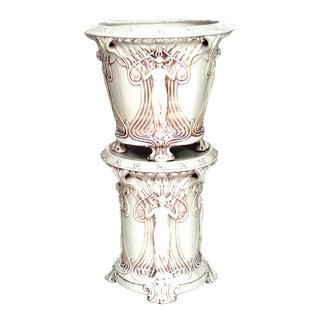 American Mission White Porcelain Jardinière For Sale