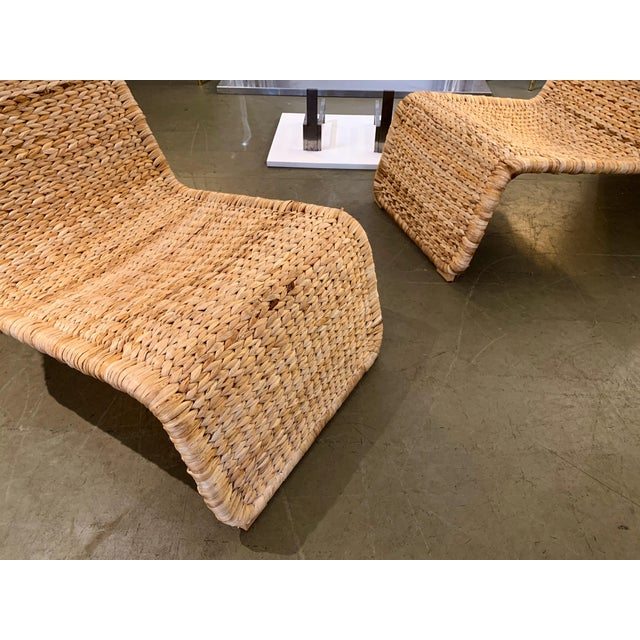 1980s Tito Agnoli P3 Rattan Lounge Chairs- a Pair For Sale - Image 9 of 12