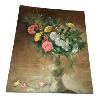 Flower Vase Oil Painting on Board