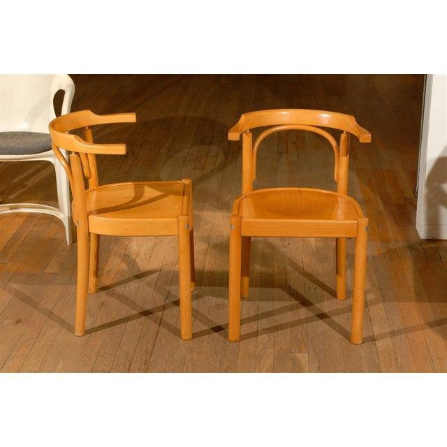 Midcentury Beechwood Armchairs, Hans Wegner - Pair For Sale In Atlanta - Image 6 of 8
