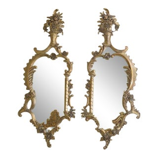 Labarge French Style Gold Decorative Mirrors - a Pair