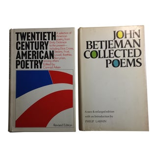 John Betjeman Collected Poems 20th Century American Poetry Set of 2 For Sale