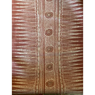 Lee Jofa Indian Zag Madder Cotton Blend Fabric - 4 Yards For Sale