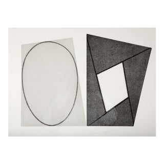 """Robert Mangold """"Frame and Elipses"""" Print For Sale"""