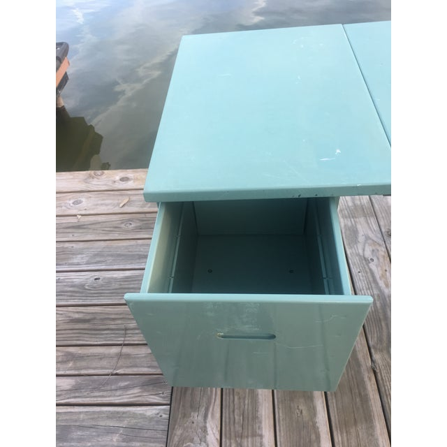 20th Century Industrial Aluminum Military Campaign Tanker Desk For Sale In Austin - Image 6 of 12