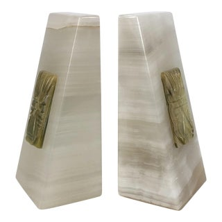 Vintage Onyx Bookends - A Pair
