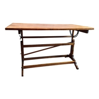 Vintage Industrial Drafting Table For Sale