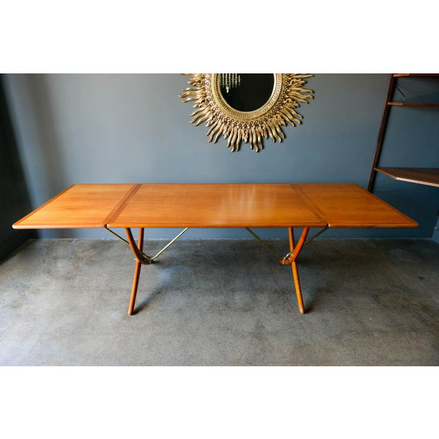 Mid-Century Modern Hans Wegner for Andreas Tuck Model At-304 Dining Table, Circa 1955 For Sale - Image 3 of 13