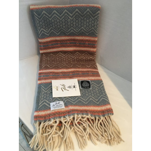 Rustic Vintage Southwestern Faribo Mesa Wool Blanket/Throw For Sale - Image 3 of 6
