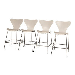 Fritz Hansen Series 7 Bar Stools - Set of 4