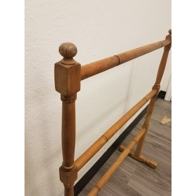 Antique English Pine Quilt or Towel Stand For Sale In Dallas - Image 6 of 13
