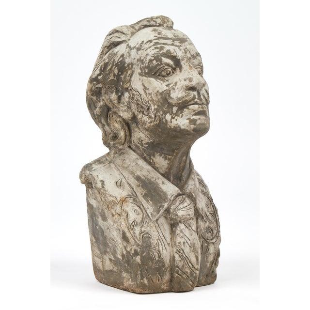 1950s Salvador Dali Vintage Stone Sculpture Bust For Sale - Image 5 of 10