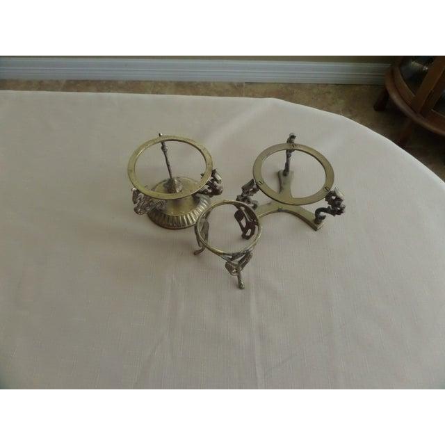 Vintage Solid Brass Display Stands - Set of 3 - Image 4 of 7