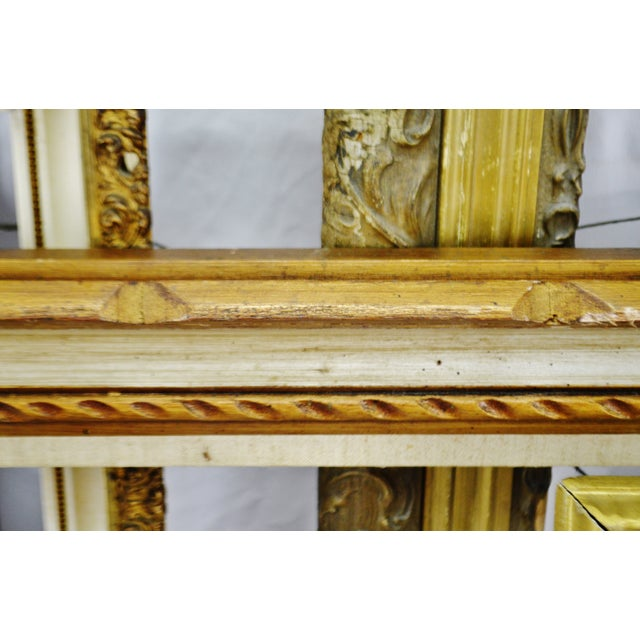 Vintage Medium Sized Wood Picture Frames - Group of 6 For Sale - Image 11 of 13