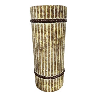 1970s Vintage Mid Century Modern Spanish Ceramic Umbrella Stand - Spain For Sale