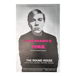 1971 Original Flyer for Andy Warhol's Pork at the Round House in London For Sale