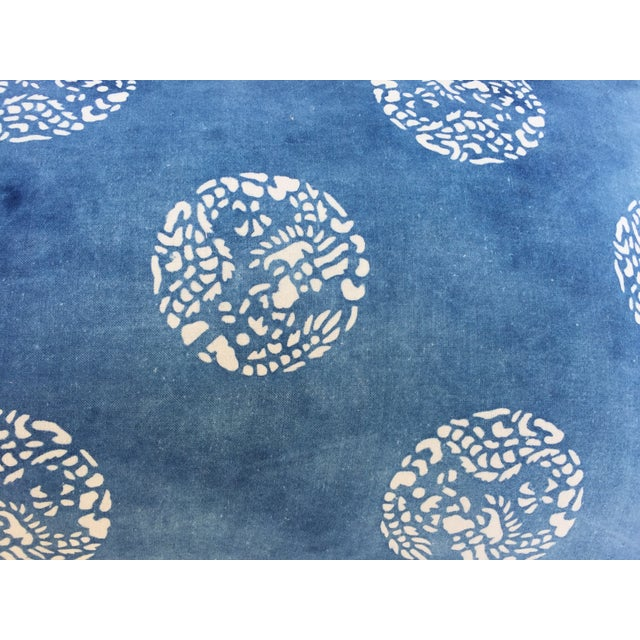 Faded Indigo Batik Body Pillow For Sale In Los Angeles - Image 6 of 6