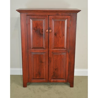 Geiser's Furniture Country Shaker Style Solid Pine Narro 2 Door Cupboard Cabinet Preview