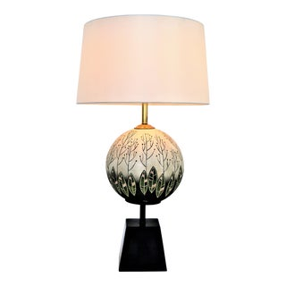1950s Tye of California Mid-Century Modern Ceramic Table Lamp -- Tropical Boho Chic Coastal