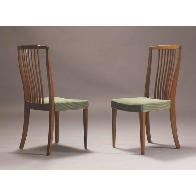 Danish Modern Spindle Back Dining Chairs - Set of 6 For Sale - Image 4 of 4