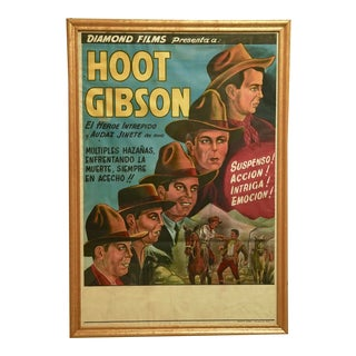 "Circa 1930 ""Hoot Gibson"" Original Release Lithograph Poster For Sale"
