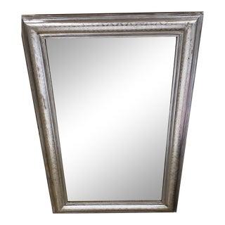 19th Century Silver Leaf Mirror For Sale