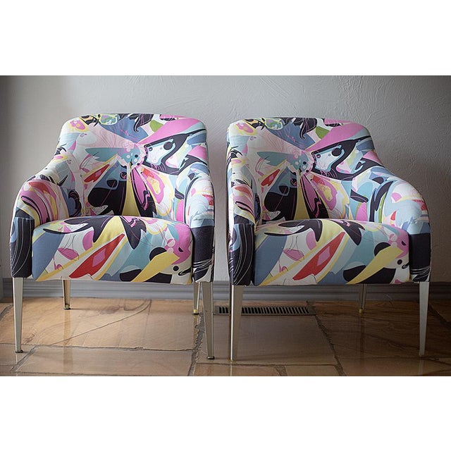 Aluminum 1990s Vintage B & B Italia Modernist Designer Club Chairs - A Pair For Sale - Image 7 of 7