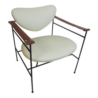 Luther Conover Lounge Chair in Leather