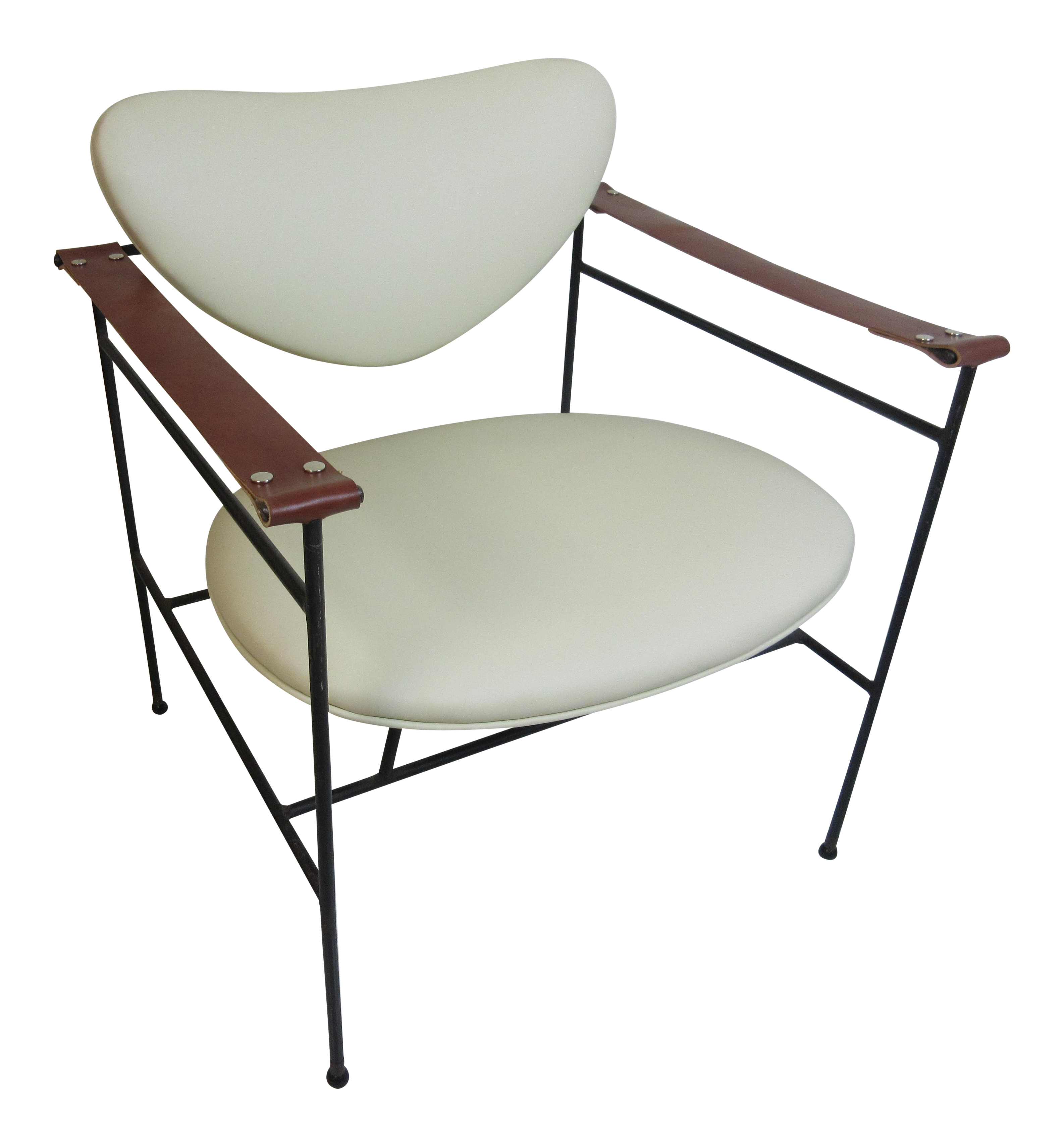 Luther Conover Lounge Chair In Leather   Image 1 Of 8
