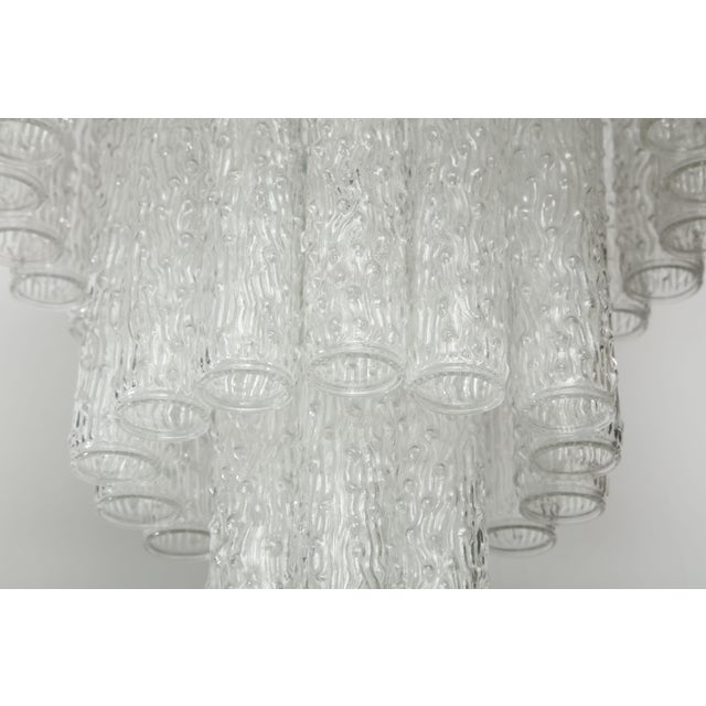 Glass Murano Glass Tube Chandelier For Sale - Image 7 of 10