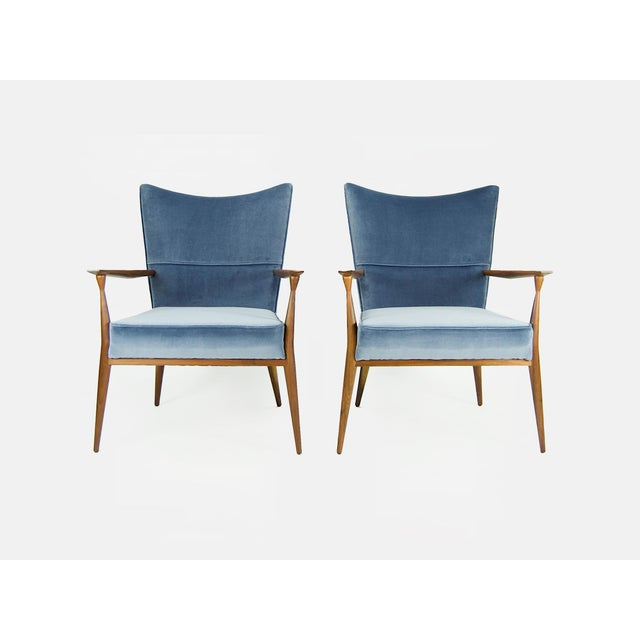 This is a gorgeous pair of mid-century lounge chairs designed by Paul McCobb for Directional. (Model #1328.) The design...