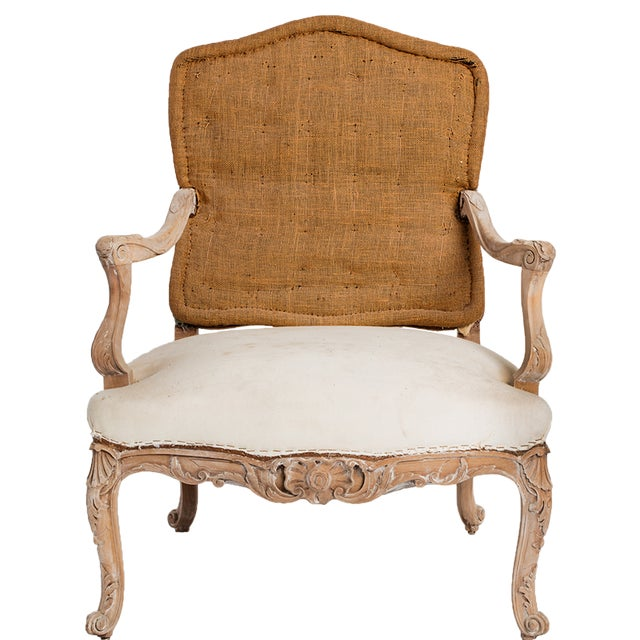 French PAIR OF ANTIQUE LOUIS XV CHAIRS For Sale - Image 3 of 6